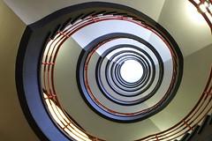 Hula Hoop (Elbmaedchen) Tags: treppenhaus treppenauge staircase stairwell sprinkenhof upstairs roundandround hamburg spirale spiral helix interior colours