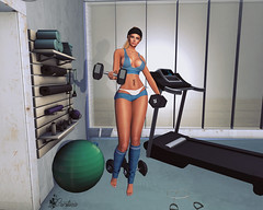 [ LsR ]Sexy Cadence Sport Outfit (cristy82resident) Tags: top shorts panties legwarmers maitreya belleza venus isis freya slink physique hourglass altamura eve pulpy slim tmp mesh lsr fashion blog avatar secondlife