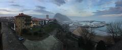 (justonechance) Tags: getaria panoramic panoramica iphone mist bruma harbor puerto paisvasco euskadi basquecountry