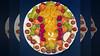 Bildschichten Fruechteteller 90w3 (wos---art) Tags: früchteteller frühstücksteller inliebe obstteller bildschichten obst füresther orangen kiwi banane birne himbeeren ananas weintrauben apfel