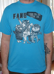 #2866A Fang - Where The Wild Things Are (Minor Thread) Tags: minorthread tshirtwars tshirt shirt vintage rock concert tour merch blue fang wherethewildthingsare 1984 boner records punk