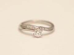 シングル・カットダイヤを添えたエンゲージメントリング (jewelrycraft.kokura) Tags: シングル・カット ダイヤモンド エンゲージリング singlecut engagementring