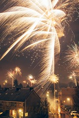 New Year's Eve (WillemijnB) Tags: newyear eve newyearseve night netherlands hengelo fireworks festive horizon sparkles