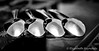 Day 16. (lizzieisdizzy) Tags: blackandwhite blackwhite black bright monochrome mono monotone monochromatic chromatic table tabletop spoon spoons reflections reflection reflective reflect silver silverspoon glass bowl handle handles