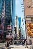 Times Square (MikePScott) Tags: architecturalfeatures banner billboard broadway buildings builtenvironment camera featureslandmarks flag lamppost logo newyork newyorkcity nikon28300mmf3556 nikond800 sign sky skyscraper streetlamp streetlight timessquare usa