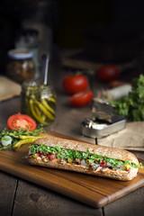 bocata de sardinas (carmenmedinalopez) Tags: madridfusión estilismodealimentos bocadillo bocadillodesardinas