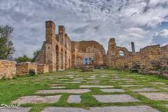 (Stratos28) Tags: westmacedonia greece tradition prespes basilica agios achillios clouds ruins landscape dramaticsky