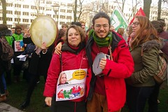 BOYC1058 (Leopoldo Esteban) Tags: leopoldoesteban agentschapintegratieeninburgering sindicatos syndicats actie staking 170