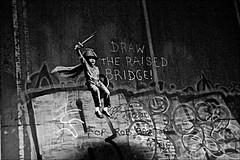 Banksy Scott Street Bridge Black and White (brianarchie65) Tags: banksy scottstreetbridge graffiti river riverhull kingstonuponhull cityofculture geotagged brianarchie65 blackandwhitephotos unlimitedphotos