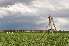 Griffith Brothers copy of a Tustin windmill with supercell thunderstorm; Kaimkillenbun, Queensland (sarracenia.flava) Tags: tustin economy windmill griffith brothers southern cross supercell thunderstorm australia queensland qld darling downs kaimkillenbun cloudsstormssunsetssunrises