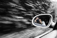 Escape (VisualTheatrics) Tags: canon canon750d citylife mono monochrome monochromatic motion motionblur driving car cars motorway movement dslr digitalphotography perspective perspectives