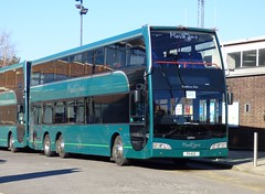 Mortons Travel P11 KGF Chichester 25/2/18 (jmupton2000) Tags: p11kgf volvo b9tl optare olympus rail railway replacement bus