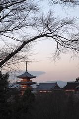 The Kiyomizu-dera  Pagoda (fredMin) Tags: kiyomizudera pagoda temple buddhist japan sunset travel kyoto tree zen fujifilm xt1