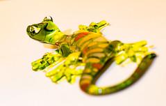 #12 Gecko (tokyobogue) Tags: tokyo japan nikon nikond7100 d7100 macro gecko glass ornament green yellow 365project tokina tokina100mmf28atxprod