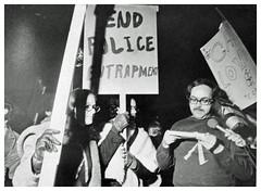 Gay activists rally against park police: 1972 (Washington Area Spark) Tags: washington dc arlington va gay lesbian bisexual transgender homosexual activist alliance picket protest demonstration march rally iwo jima us park police arrest 1972