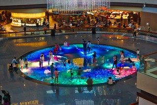 Playground of light and sound in The Shoppes at the Marina Bay Sands in Singapore