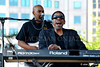 Henry Butler and the Jambalaya Band, Detroit Jazz Festival (jackman on jazz) Tags: alanjackman jackmanonjazz detroitjazzfestival detroit detroitmichigan nikond7000 d7000 jazz music festival nikkor nikon group 55300mm piano key boards henrybutler jambalaya band