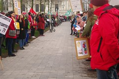 BOYC1074 (Leopoldo Esteban) Tags: leopoldoesteban agentschapintegratieeninburgering sindicatos syndicats actie staking 170