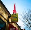 Ballard - Rolleiflex Portra 400-10 (ryanjgabbard) Tags: streetphotography vinyl records sonicboom neon seattle ballard kodak portra rolleiflex