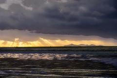 Trapani Salt Flats and Favignana (Claudio Abate) Tags: trapani favignana saline salt flats clouds sky sunset sea reflections