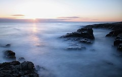 Black Hole Sunrise (craigdwilkinson) Tags: craster blackhole northumberland sea seascape motionblur rocks