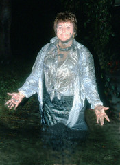 Safety Harbor mud spree, 1993 (clarkfred33) Tags: mud water wade swamp safetyharbor ttd trashthedress wetfun wetadventure wetlook slippery slimy flashphoto nighttime 1993 funlady wetwoman wetclothes dirty muddy