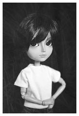 Scratches (Dragonella~) Tags: pullip doll sebastian james jamessebastian taeyang taeyangdoll taeyangsebastian blackandwhite blackbutler fashiondoll pullipdoll nikon d5100 dragonella groove