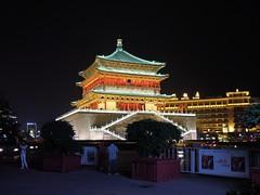 China (Xian) BellTower at night