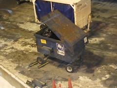 BFI Tugster (TheTransitCamera) Tags: msp mspinternationalairport bfi dumpster tug trash bin