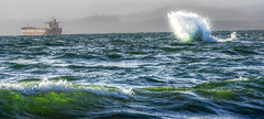 Wave Action (Martinionice) Tags: amazing nature sunlight refracted rain clouds tide incoming cold winter storm
