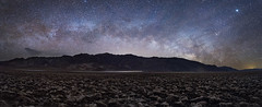 Death Valley Milky Way Pano 2018 (Jeff Berkes Photography) Tags: deathvalley california camping night sky photography milky way galazy panoramic badwater basin devils gold course zabriskie point dantesview desertsouthwest landscape nighttime nightscape stars