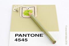 PANTONE 4545 (Anne-Miek Bibbe) Tags: pantone kleuren colors farben colori colores cores groen green grün verde vert potloden kkleurpotloden pencils colorpencils crayons couleurcrayons bleistifte farbebleistifte matite colorematite lápices colorlápices lápis corlápis 4545 pantone4545