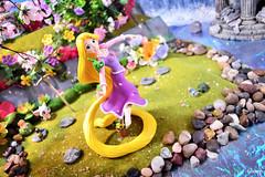 Rapunzel & Pascal (GaleXV) Tags: nikon d3100 segaprize sega disney tangled rapunzel toyphotography diorama spring prizefigure