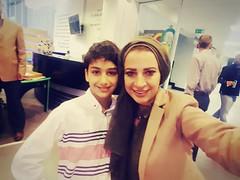 With the journalist Hind Khlaifat (Zaid Horani) Tags: zaidhorani amman jordan kids journalist hindkhlaifat زيدالحوراني