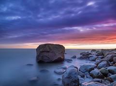 Rocky sunset (Jarno Nurminen) Tags: finland porvoo emäsalo shore nisi olympus longexposure sea clouds sunset rocks