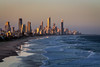 Gold Coast at Dusk (stevepaustin) Tags: goldenhour beach ocean sunset australia cityscape dusk goldcoast sea miami queensland au