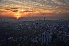 Yangon Myanmar 7th January 2018 (loose_grip_99) Tags: burma myanmar asia yangon rangoon sunrise city cityscape rooftops shwedagon pagoda january 2018