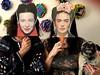 Simone, Frida & Pippa (irene_joy) Tags: dog pug pippa party face mask masks kahlo frida debeauvoir simone