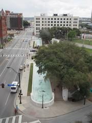 View of Dealey Plaza along Houston St. (procrast8) Tags: dallas tx texas dealey plaza sixth floor museum houston street