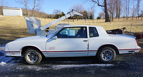 1987 Chevrolet Monte Carlo in process of restoration ($1,456.00)