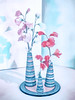 Sweet Pea Pastel (Steve Taylor (Photography)) Tags: sweetpea vase pot plate art digital pottery pastel highkey blue pink red white uk gb england greatbritain unitedkingdom london texture shadow hallplace