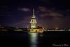 Maiden's Tower Istanbul Turkey Night (Mutlu Project) Tags: phosphorescence maidenstower kızkülesi salacak sea istanbul turkey üsküdar ottman topkapı galata eminonu cami