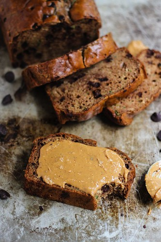 Healthy Eating  : Grain free HEALTHY peanut butter zucchini bread w/ chocolate chips! Two options ...