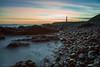8 Minutes across Greyhope Bay (Derek Coull) Tags: aberdeen girdleness lighthouse longexposure presunrise rocks tide waves