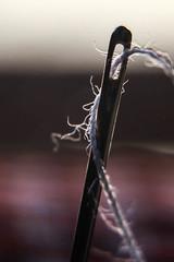 Simbolo de el amor y la amitad, amor sincero y puro como el de una madre, duro y fuerte como el acero de una aguja. (PEDROLO68) Tags: amor amitad union aguja hilo macro pedrola zaragoza aragon españa