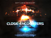 close-encounters-of-the-third-kind-40th-quad-poster (Cinema Quad Posters) Tags: quadposter britishfilmposter movieposter cinema poster art artwork vintage original ds quad uk advance teaser rerelease anniversary linenbacking motionpicture posterdesign