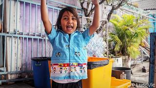 Happy Thai school girl