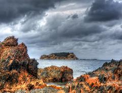 Jimmies island VII (elphweb) Tags: hdr highdynamicrange nsw australia coast coastal island rosedale rock rocks rockformation jimmies jimmiesisland sky skies cloud clouds cloudy cloudformations