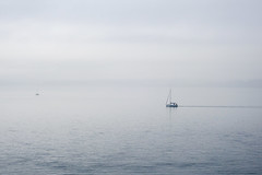 Gray morning on the Puget Sound (Ken Pick) Tags: 118picturesin2018 sailboats seattle discoverypark pugetsound ripples