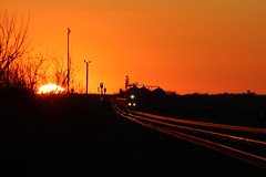 UP 8500 Take 1 (CC 8039) Tags: up trains sunset sd70ace ac44cw rochelle illinois